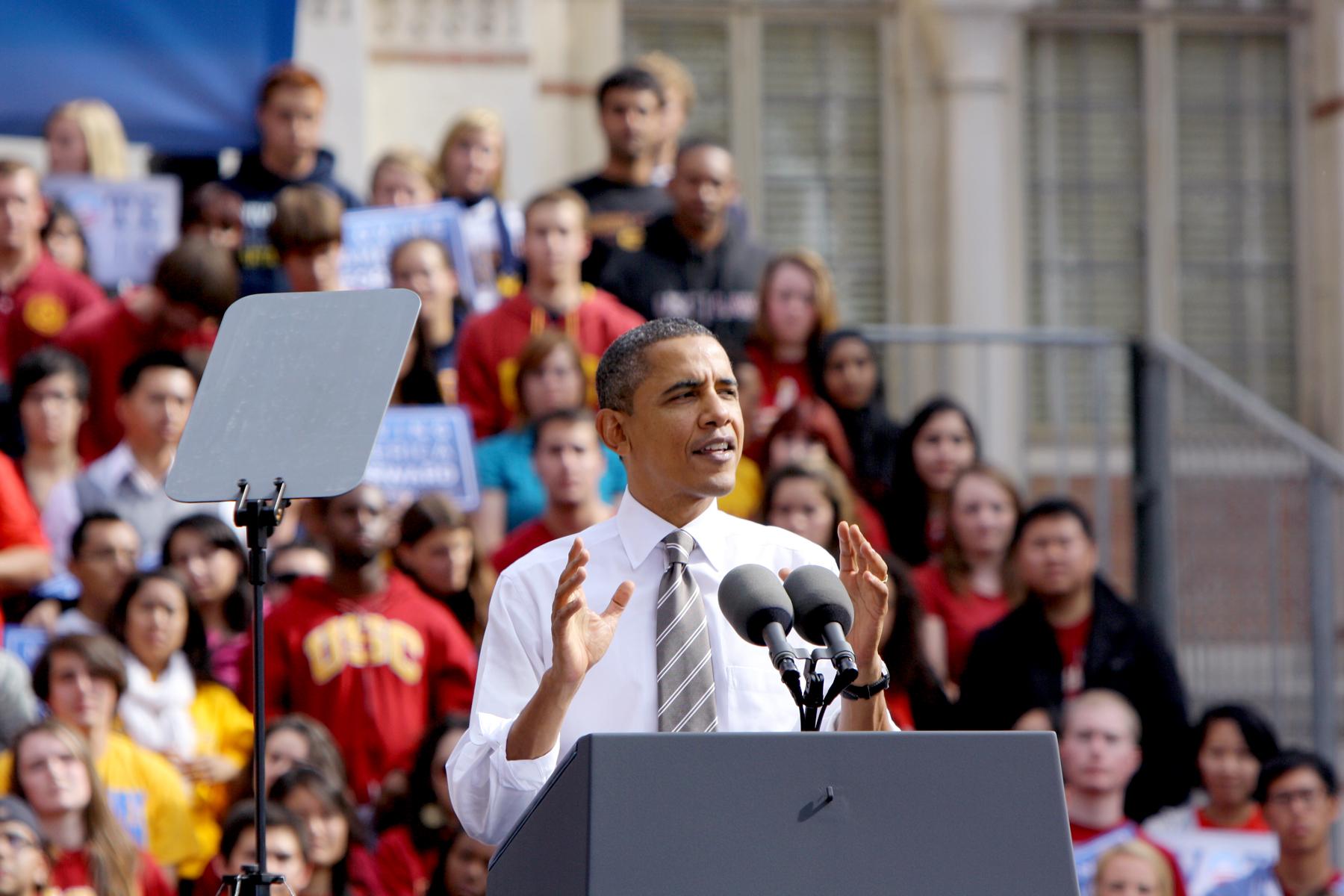 President Obama at USC 2010