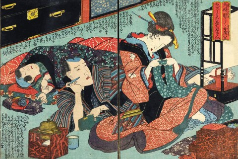 Japanese artwork, Keisai Eisen