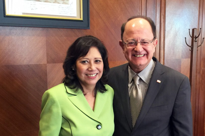 Supe Solis and President Nikias