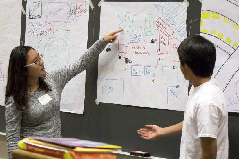 Master of Planning students introduce local high school students to the field of urban planning