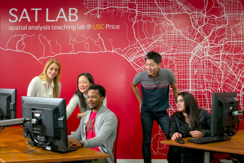 USC Price's new Spatial Analysis Teaching Laboratory.