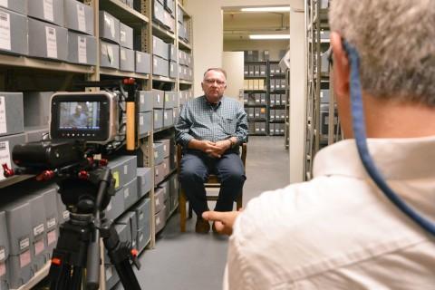 director Joseph Hawkins is interviewed by filmmaker Joris Debeij