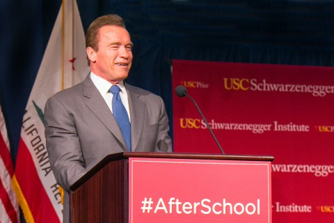 Former Calif. Gov. Arnold Schwarzenegger calls on Congress to keep federal after-school program funding.