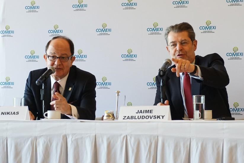 USC President C. L. Max Nikias and COMEXI President Jaime Zabludovsky
