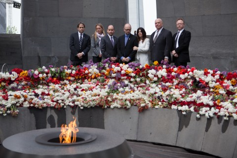 USC delegation at Armenian Genocide memorial