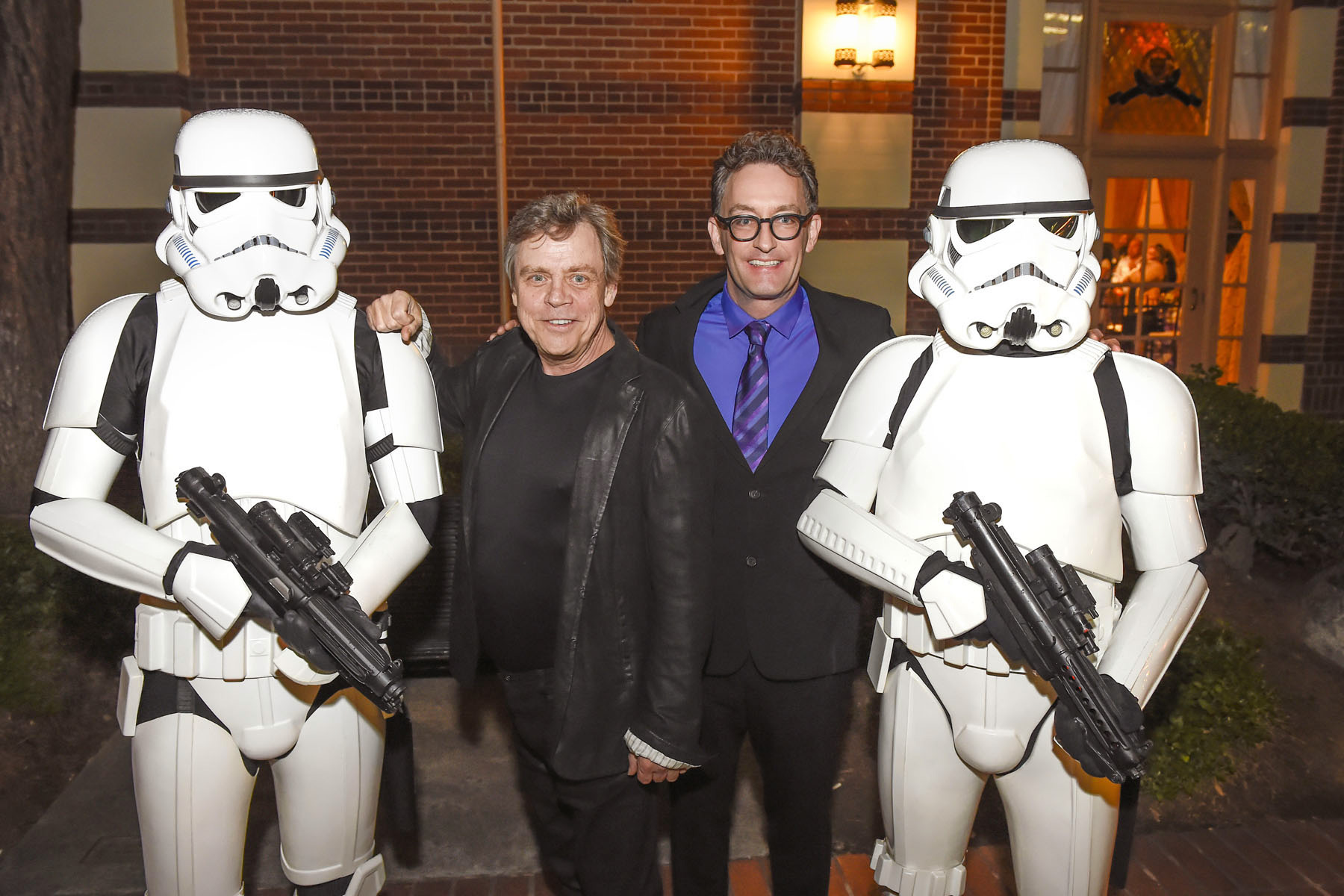 Storm troopers with Mark Hamill and