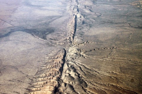 San Andreas Fault at Carrizo Plain