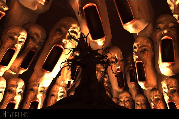 Nevermind is a first-person biofeedback-enhanced horror adventure game that gets more challenging as you get more frightened. (Image Courtesy of Flying Mollusk)