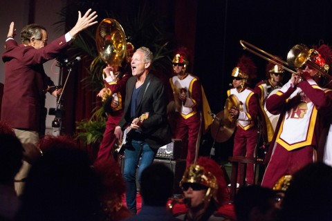 Lindsey Buckingham and the USC Trojan Marching Band