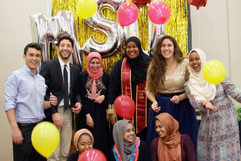 2 semesters later and I already found my fam <3 #MuslimStudentUnionBoard2015 (Photo/Courtesy Newal Osman)