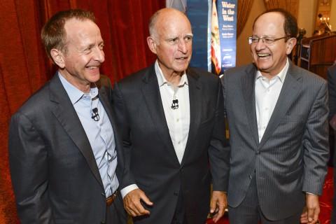 Austin Beutner, Jerry Brown and C. L. Max Nikias