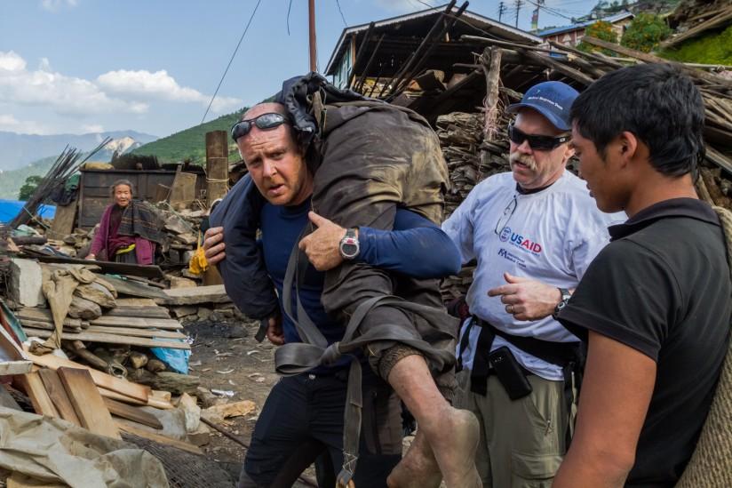Nepal quake victim