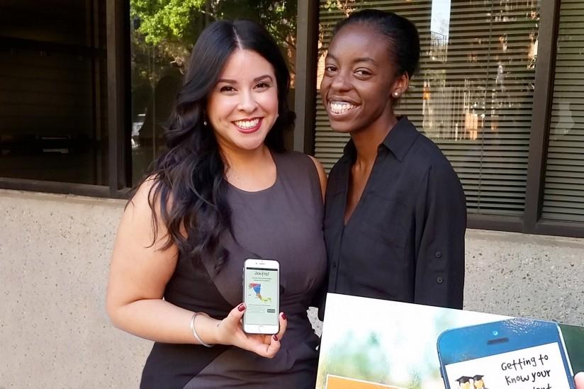 Jessica Reynaga and Chloe Valmore