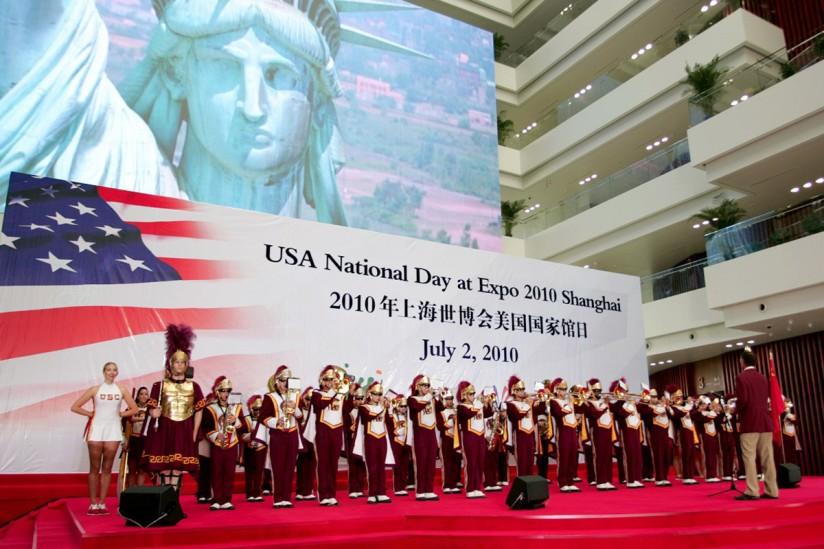 Trojan Marching Band in Shanghai