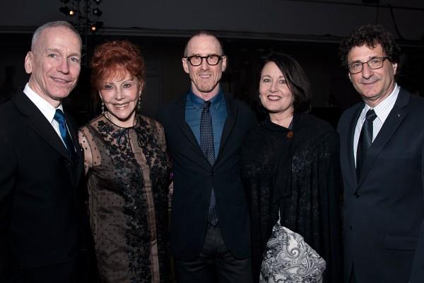 Glenn Edgerton, Glorya Kaufman, William Forsythe, Jodie Gates, and Robert Cutietta, from left (Photo/Robert F. Carl)