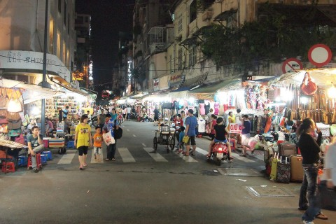 Sidewalks of Ho Chi Minh City