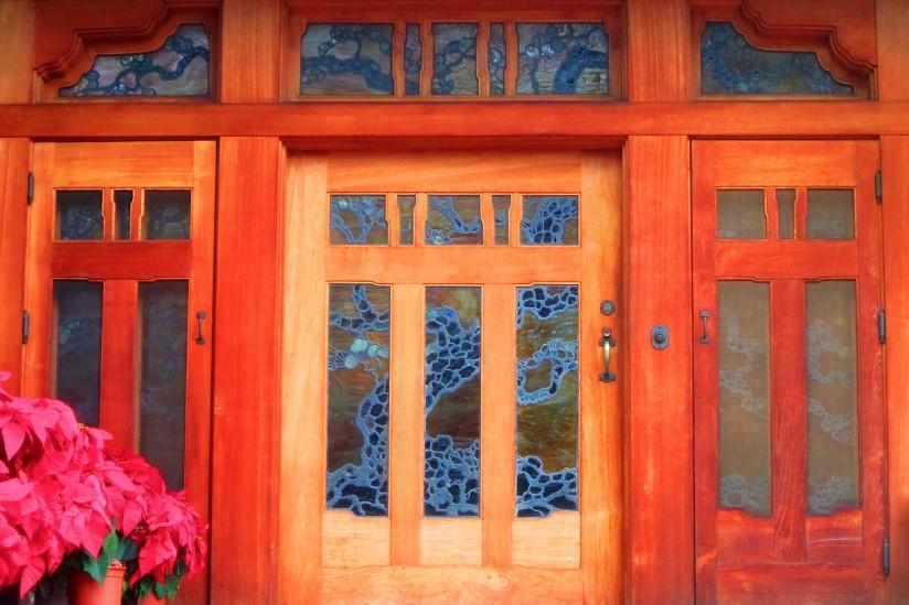 Gamble House, Front door,