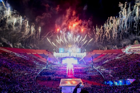 Fireworks over the Coliseum
