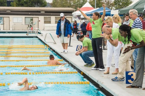Special Olympics swimming