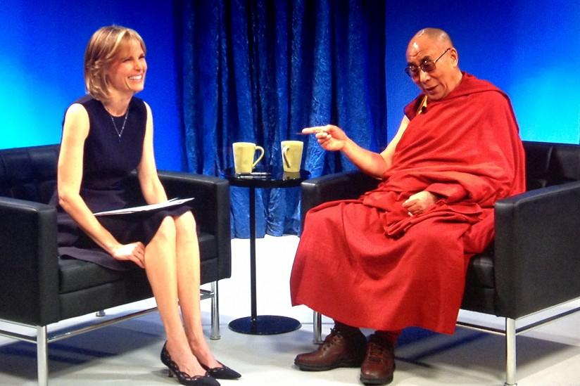 Willow Bay talks with Dalai Lama