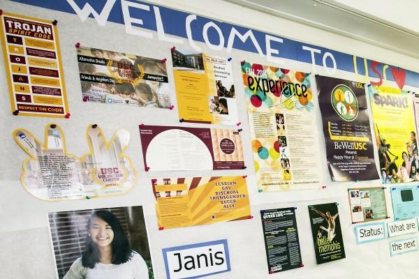 dorms, info board
