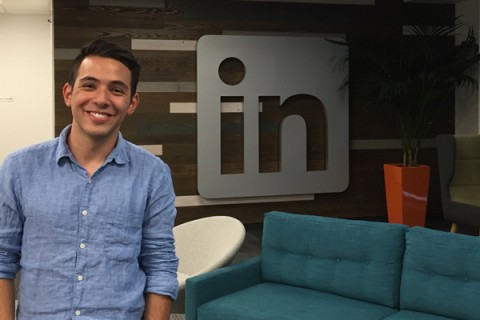 Hurtado at LinkedIn office