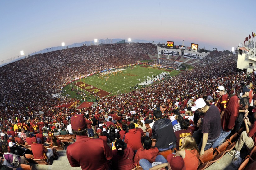 Game day at USC: The Los Angeles Memorial Coliseum