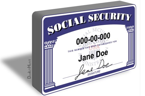 Social Security card illustration