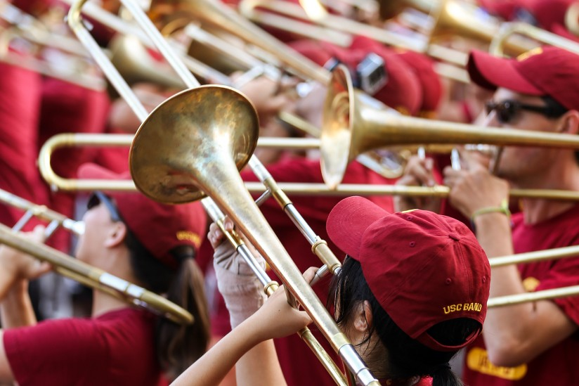 USC Trojan Marching Band during Welcome Week