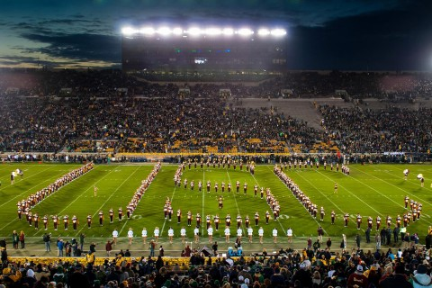 Band performs at Notre Dame in 2013