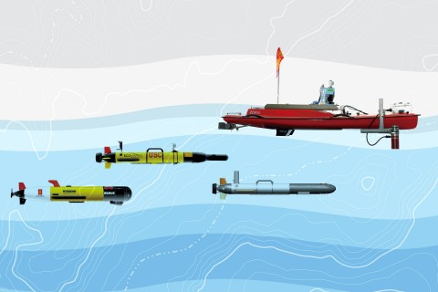 Mapping the ocean's environment, robots