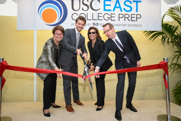 East College Prep ribbon cutting