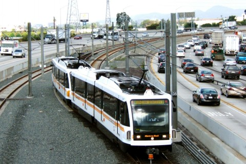 freeway, metro train, traffic,