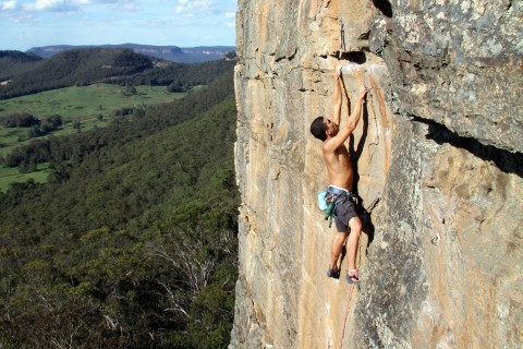 Grit, rock climbing,