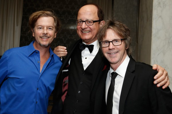 David Spade, C. L. Max Nikias and Dana Carvey