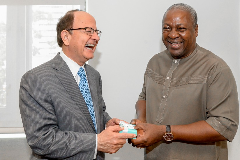 C. L. Max Nikias and John Dramani Mahama