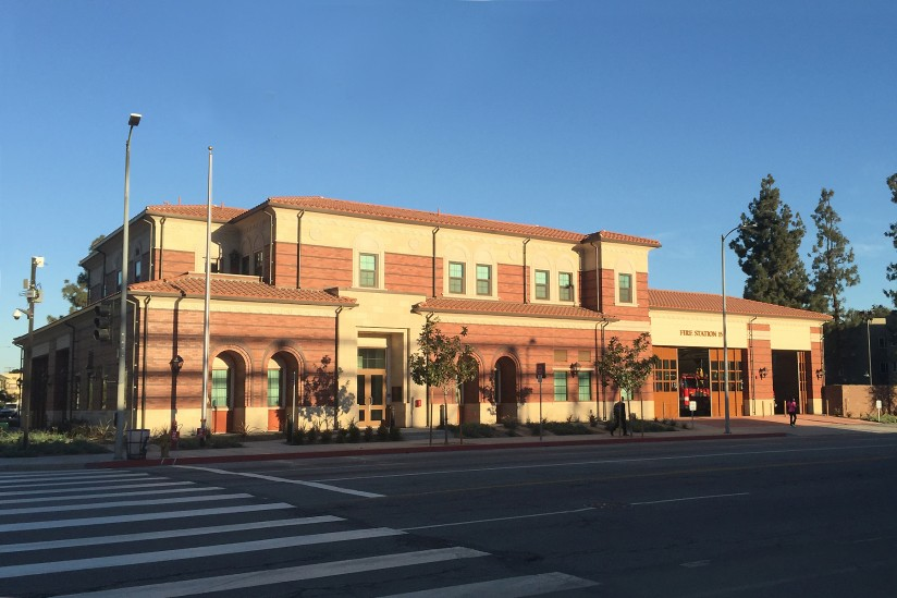 Newly opened Fire Station 15 on Hoover and 30th. (USC Photo/Holly Wilder)