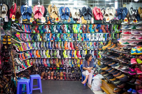 Vietnam shoe shop