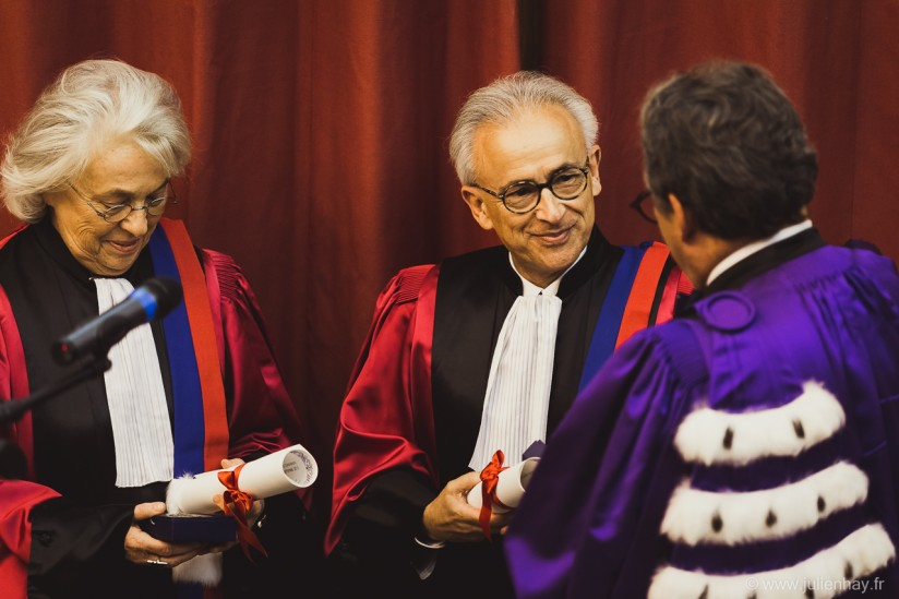 Damasios at Sorbonne ceremony