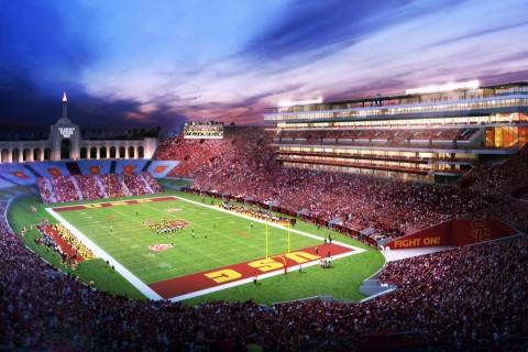 LA Coliseum rendering
