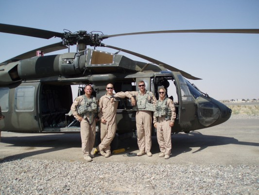 Kristina Richardson and crew in Iraq