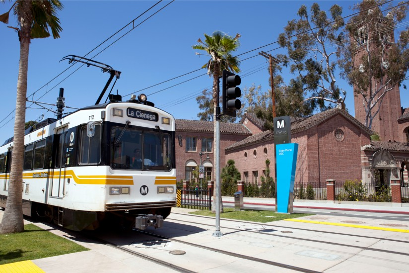 Metro Line south of USC campus