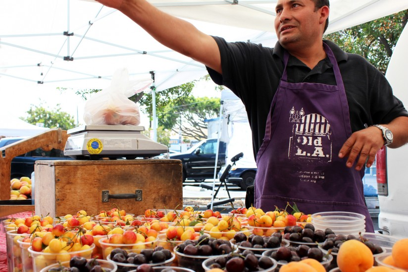 farmers market vendor in Lincoln Heights