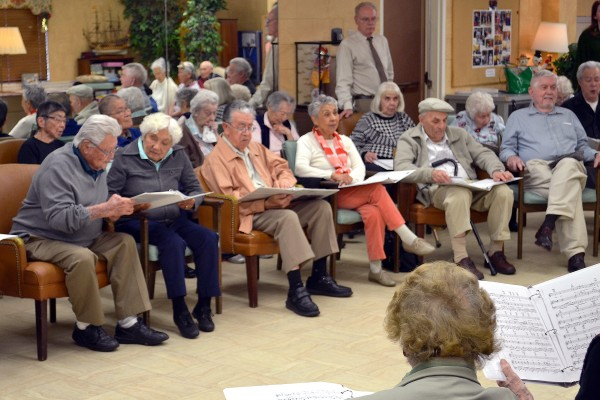 Seniors at Hollenbeck Palms Retirement Community