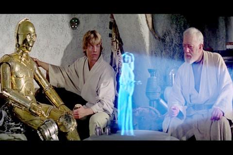Star Wars, Princess Leia, hologram,