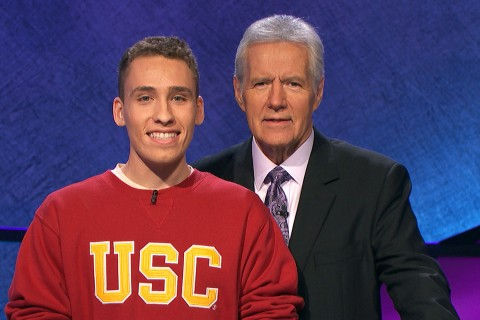 Sam Deutsch and Alex Trebek