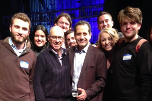 Tony Shalhoub and students