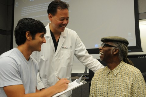 Steven Chen with patient Metcalfe
