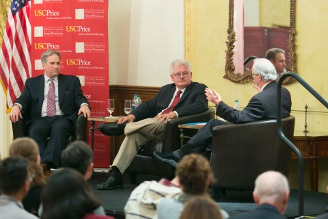 David Sloane and George Sanchez at George Washington Lecture