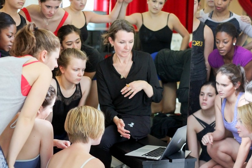 Fiona Lummis teaching students